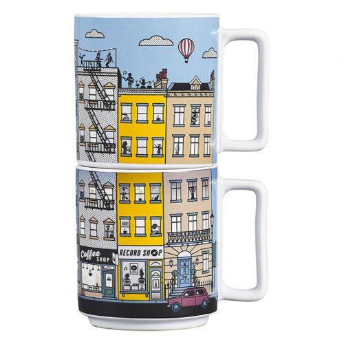 Yes Studio becher NYC wärmeempfindlich 375 ml Keramik 2 Stück