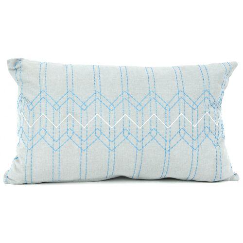 Present Time kissen Stitched Flow 30 x 50 cm Baumwolle grau/blau