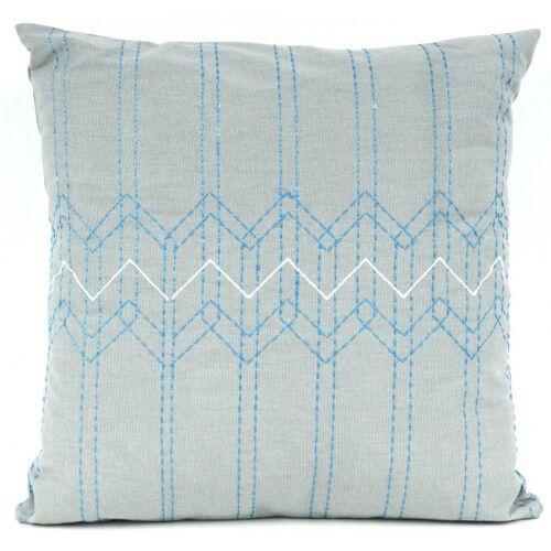 Present Time kissen Stitched Flow 45 x 45 cm Baumwolle grau/blau