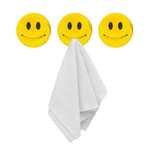 Balvi geschirrtuchhalter Smile 6 x 5,4 cm gelb 3 Stück