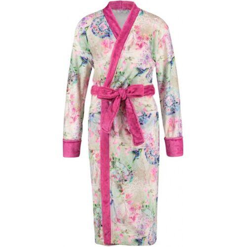Hip bademantel Damen Polyester weiß/rosa Größe L