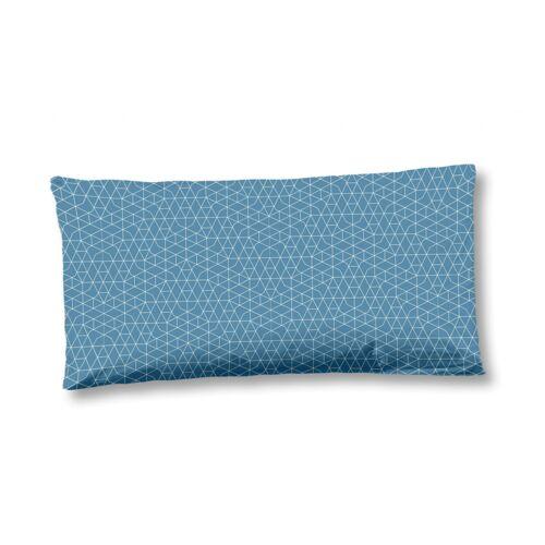 Hip kissenbezug 40 x 80 cm Satin/Baumwolle blau