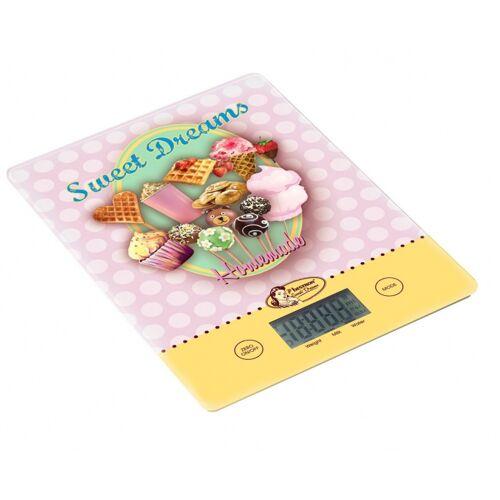 Bestron küchenwaage digital 23 x 17 x 2,5 cm rosa