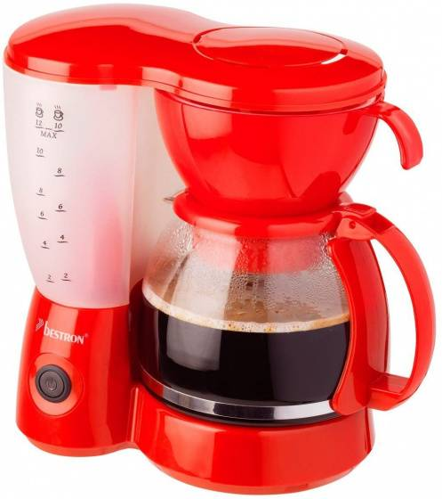 Bestron kaffeemaschine Acm6081r12 Tassen 800W rot