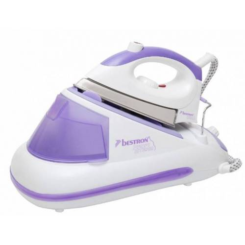 Bestron dampfbügelsystem 2600W Edelstahl weiß/violett
