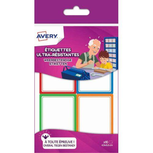Avery etiketten wetterfest 6,5 x 4,5 cm Papier 16 Stk