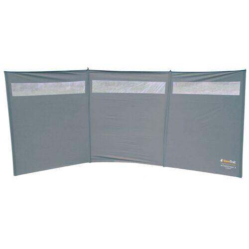Eurotrail windschutzfenster 375 x 150 cm Polyester/Stahl grau