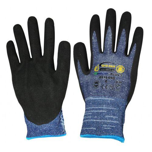 Kids At Work arbeitshandschuhe Junior Gummi blau/schwarz Größe S