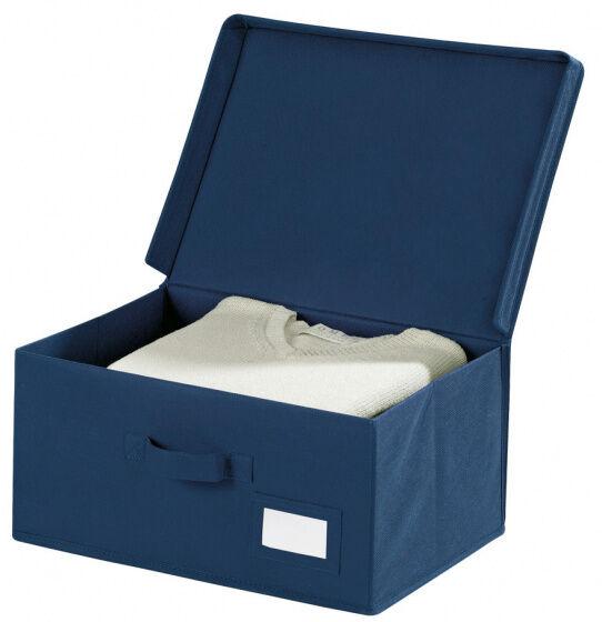 Wenko aufbewahrungsbox Air 44 x 19 cm Polypropylen dunkelblau