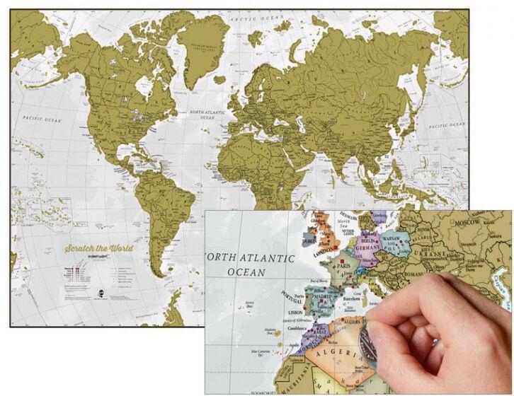 Maps International weltkarte Scratch the World Englisch