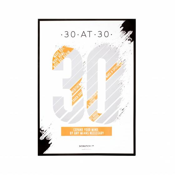 thumbsUp! rubbelposter Challenge 30 Papier 50 x 70 cm weiss/gelb
