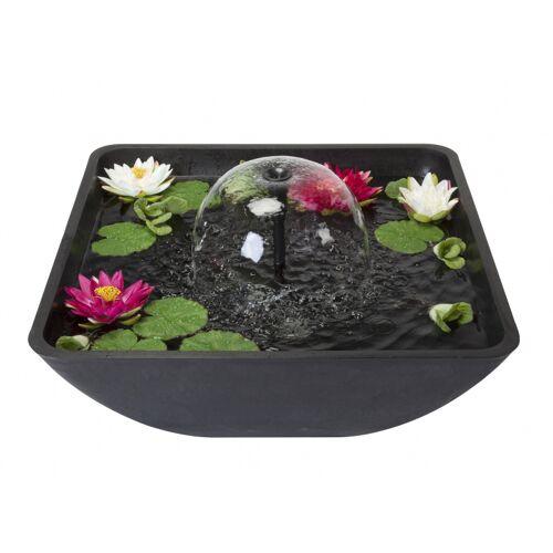 Velda terrassenteich mit Springbrunnen 75 x 35 cm Polystone schwarz
