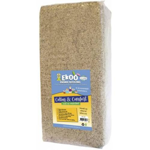 Ekoo Animal Bedding bodenbelag 140 Liter Baumwollfaser