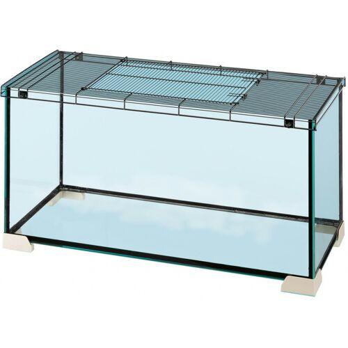 Ferplast hamsterkäfig Jerry 81 81,7 x 46,9 cm Glas schwarz