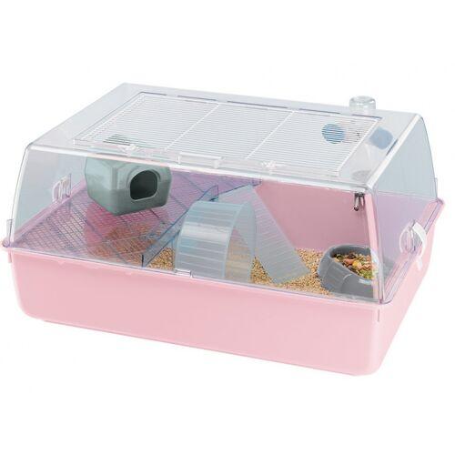 Ferplast hamsterkäfig Mini Duna 55 x 39 cm rosa 7-teilig