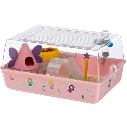 Ferplast hamsterkäfig Mini Duna Magic 55 x 39 cm rosa 9-teilig
