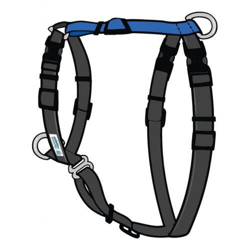 Blue-9 hundegeschirr Balance Harnas Nylon schwarz/blau Größe S