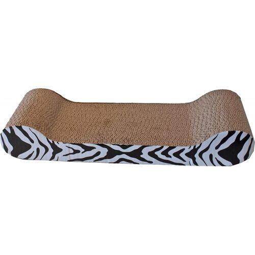 Boon kratzbrett Sofa Zebra 50 x 22 cm Sisal braun