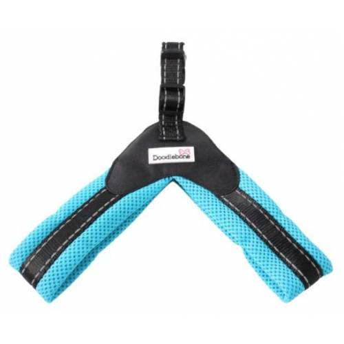Doodlebone hundegeschirr Boomerang 46-50 cm airmesh blau
