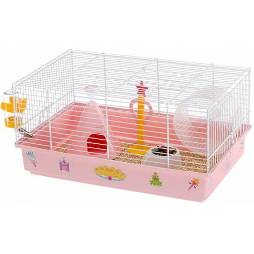 Ferplast hamsterkäfig Princess 46 x 29,5 x 23 cm stahlrosa