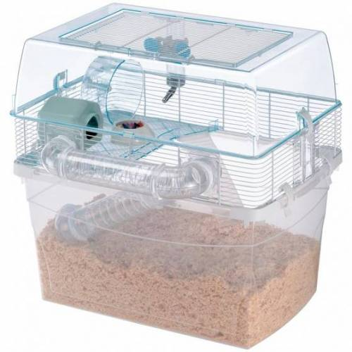 Ferplast hamsterkäfig Duna Space 57,5 x 54,5 cm transparent 7-teilig