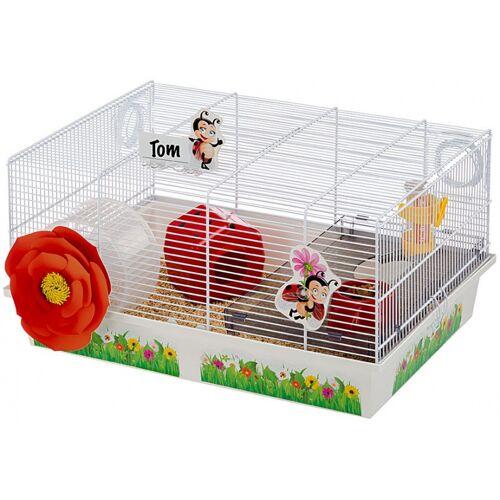 Ferplast hamsterkäfig Lady Bug 50 x 35 x 25 cm Stahl weiß