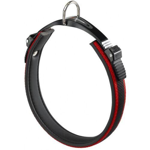 Ferplast hundehalsband Ergocomfort 25 bis 33 cm schwarz/rot