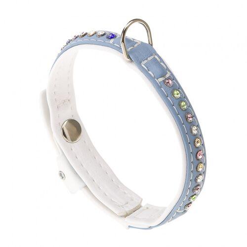 Ferplast hundehalsband Lux l 28 cm b 15 mm hellblau