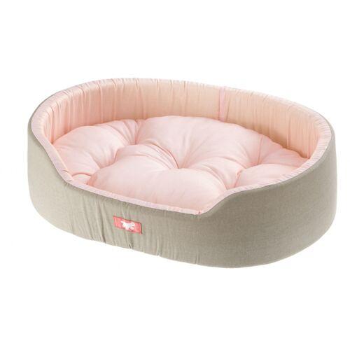 Ferplast hundekorb Dandy 41 x 55 cm Baumwolle taupe/rosa
