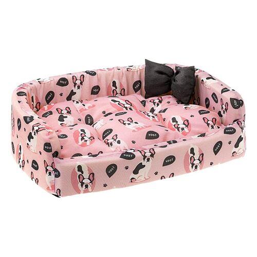Ferplast hundekorb Harris Woof 50 x 35 x 15 cm Baumwolle rosa