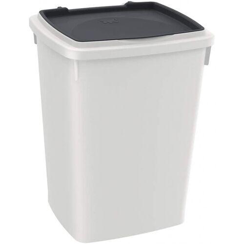 Ferplast aufbewahrungsbox Hundefutter 26 Liter grau/weiß