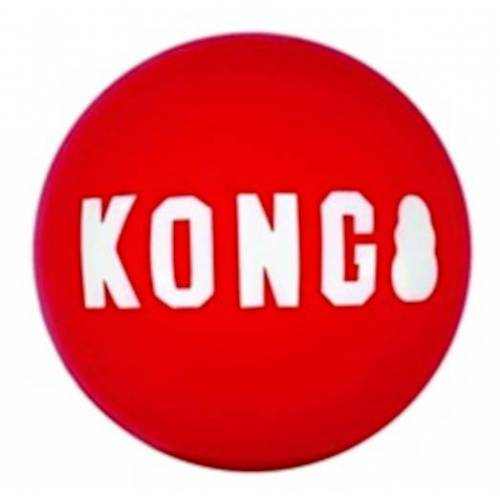 Kong hundespielzeug 6,5 cm Gummi rot/weiß 2-tlg