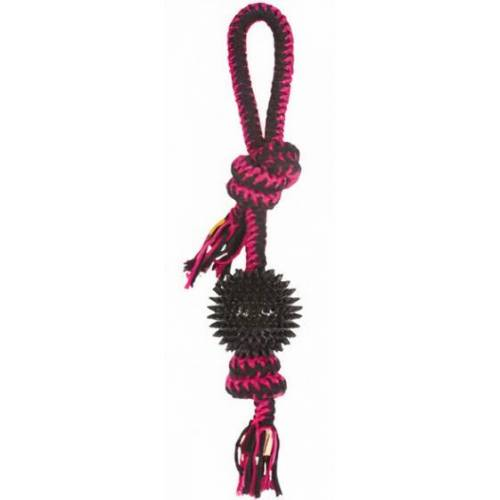 M-Pets hundezugleine Twist Prickly Bal 42 cm Baumwolle rosa