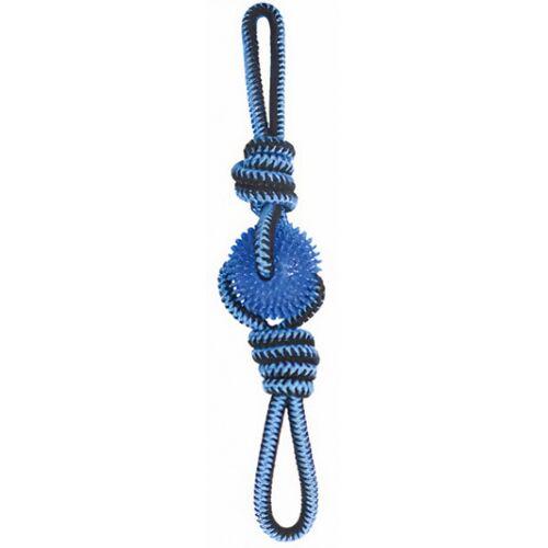 M-Pets hundezugleine Twist Prickly Trio 60 cm Baumwolle blau
