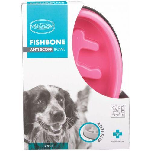M-Pets slowfeeder Fishbone 1200 ml 27,5 x 20 cm rosa