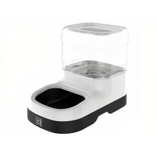 M-Pets futterautomat Nil 29 x 24,5 cm 3 Liter weiß/transparent
