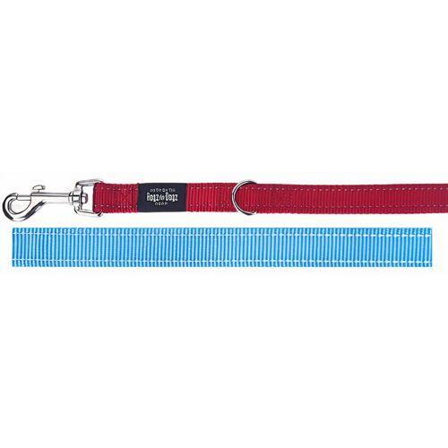 Rogz for Dogz laufleine Fanbelt 110-160 cm Nylon blau/rot