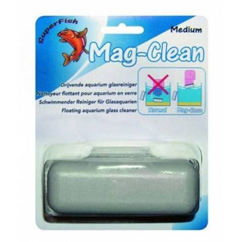 Superfish glasreiniger Aquarium Mag-Clean 8 cm grau