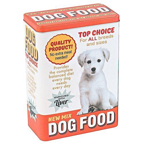 TOM lagerung von Hundefutter 18 x 10 x 24,5 cm 200 ml Aluminium rot/weiß
