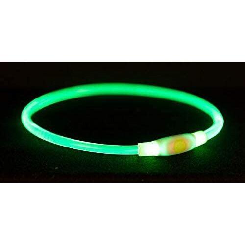 Trixie hundehalsband USB nachleuchtend 40 x 8 cm grün