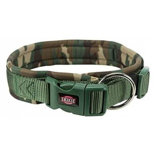 Trixie hundehalsband 56-62 x 2,5 cm Neopren Armee grün