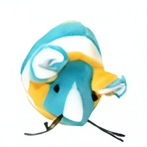 VDM katzenspielzeug Maus 6 x 4 cm Textil blau/gelb