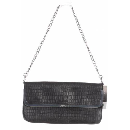 Apart Damen Handtasche schwarz, Leder schwarz