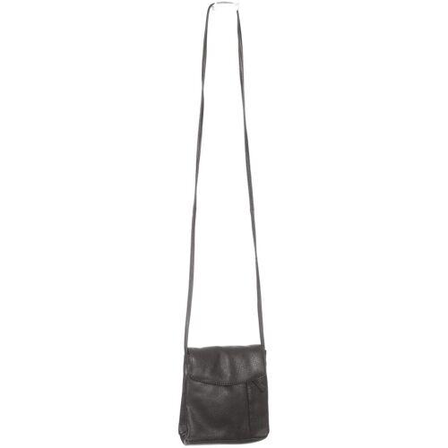 Borelli Damen Handtasche schwarz, Leder schwarz
