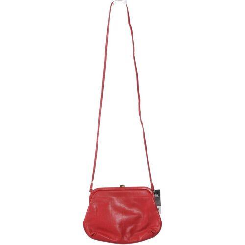 Goldpfeil Damen Handtasche rot, Leder rot