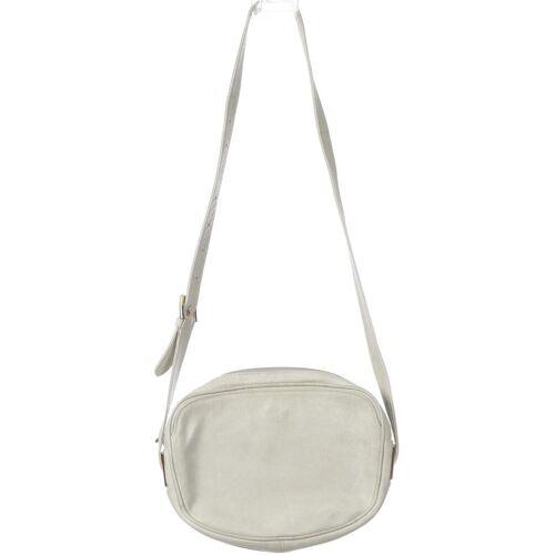 Goldpfeil Damen Handtasche grau, Leder grau