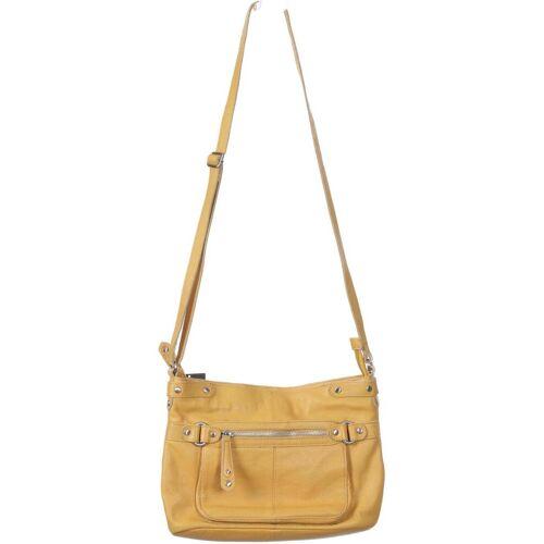 PECKOTT Damen Handtasche gelb, Leder gelb