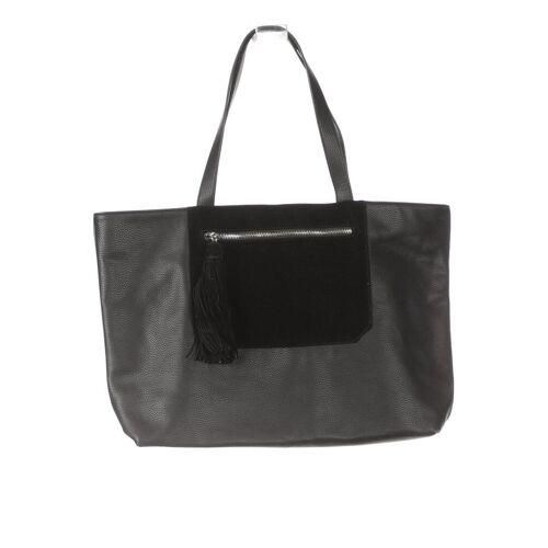 Promod Damen Handtasche schwarz, Kunstleder schwarz