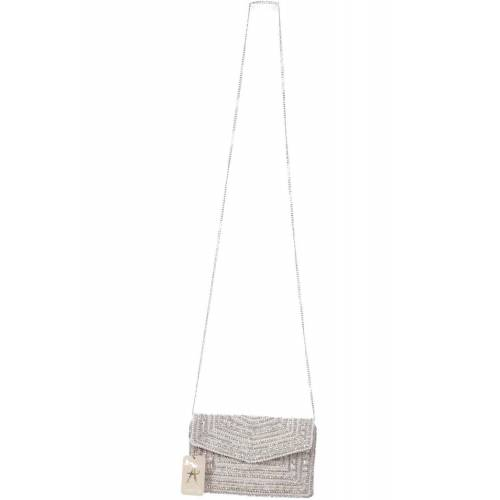 accessorize Damen Handtasche grau, Baumwolle grau
