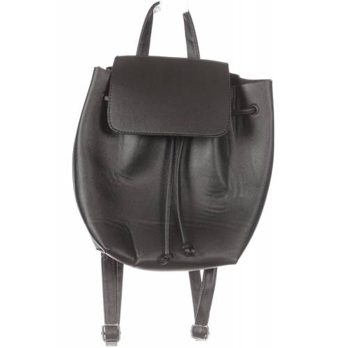 bershka Damen Rucksack schwarz schwarz